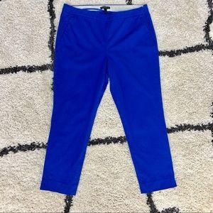 J. Crew Blue Stretch Cotton Crop Pant Size 12